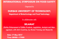 17 May 2017 – international symposium on food safety – Durban